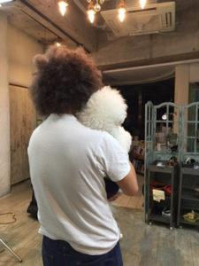 関内の美容室BOBのスタッフと犬