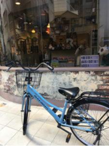 関内の美容室BOBのスタッフがお客様から頂いた自転車