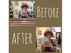 関内の美容室BOBの前髪カットビフォーアフター